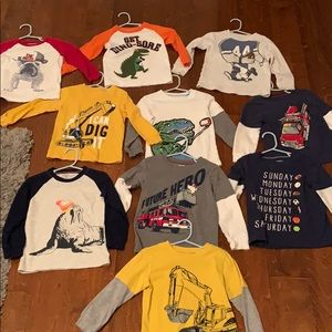 Toddler boy long sleeve tees by Carter's